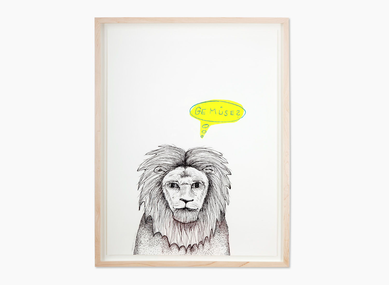 Der Löwe · Neon Gelb